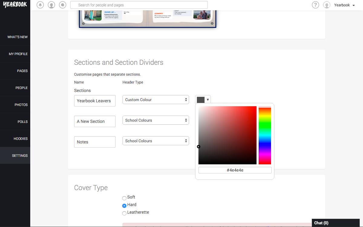 Choose Custom Divider Colour