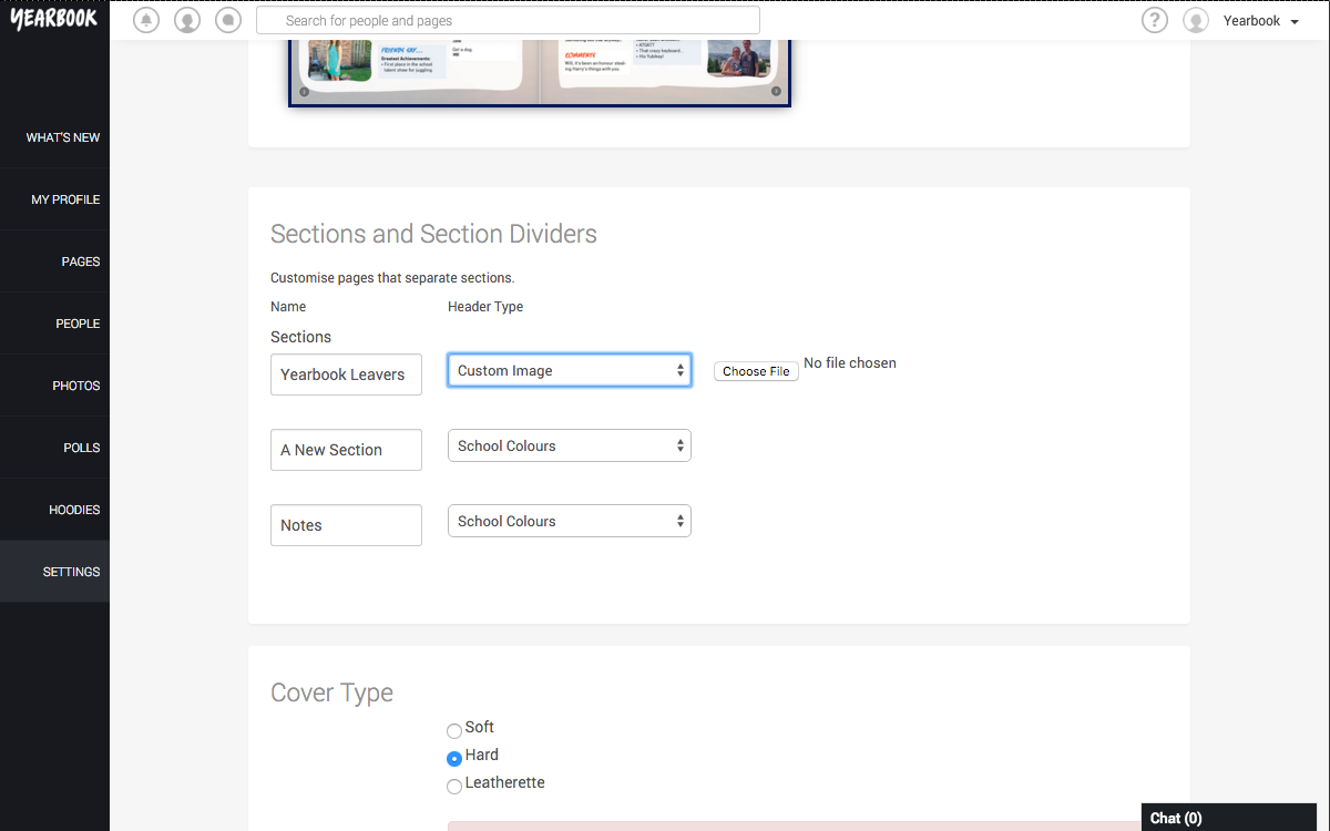 Upload Custom Divider