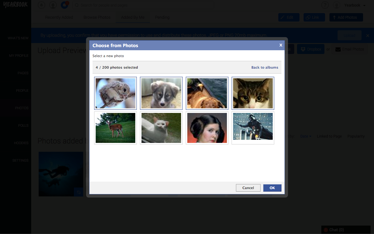 Choose FB Photos