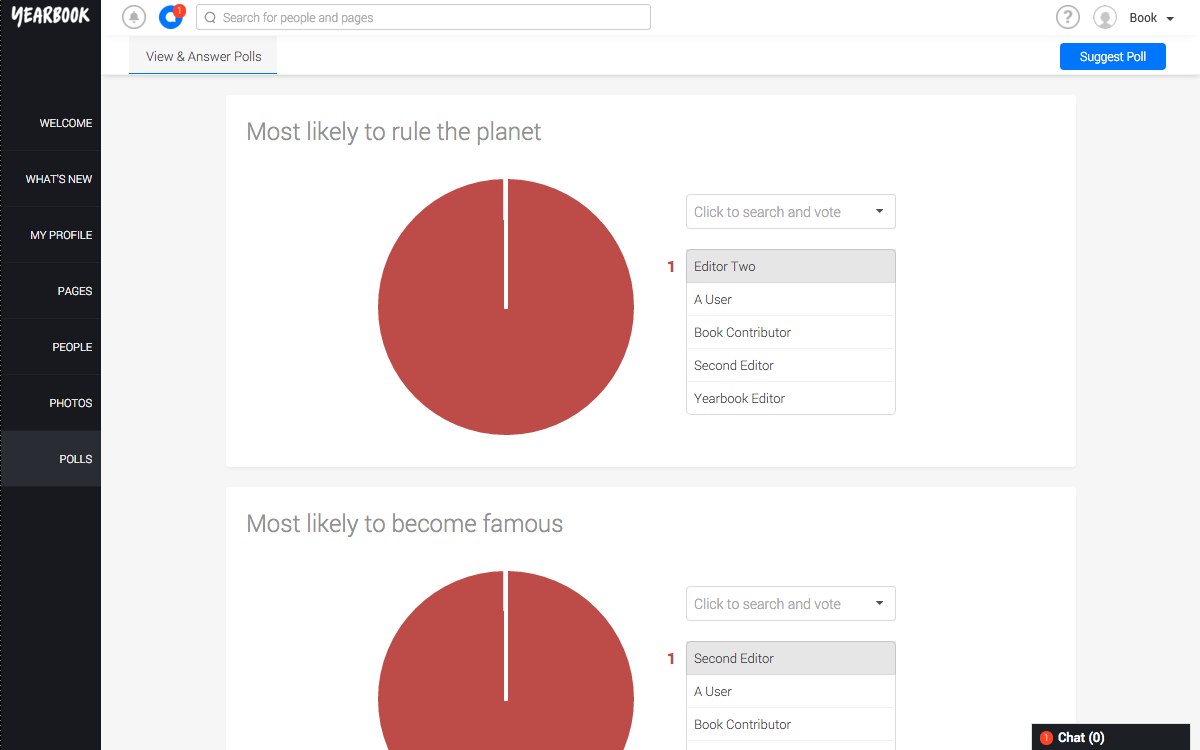 Polls Page User View